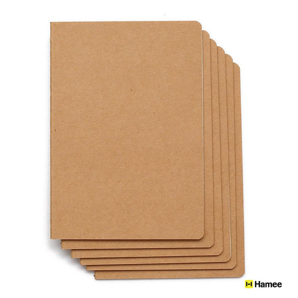 Ruled Craft Notebook (Set of 6)-Hamee India