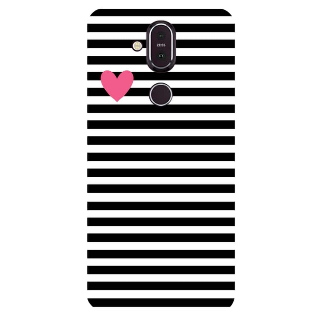 Stripes Nokia 8.1 Back Cover-Hamee India