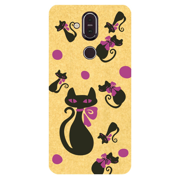 Yellow Cats Nokia 8.1 Back Cover-Hamee India