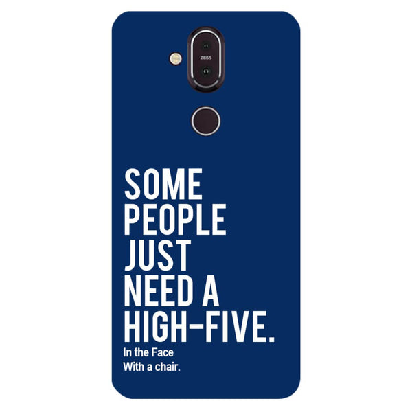 High Five Nokia 8.1 Back Cover-Hamee India