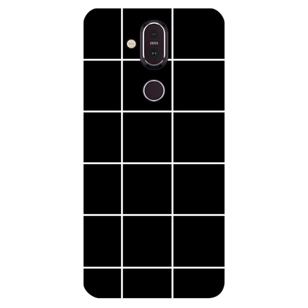 Checks Nokia 8.1 Back Cover-Hamee India