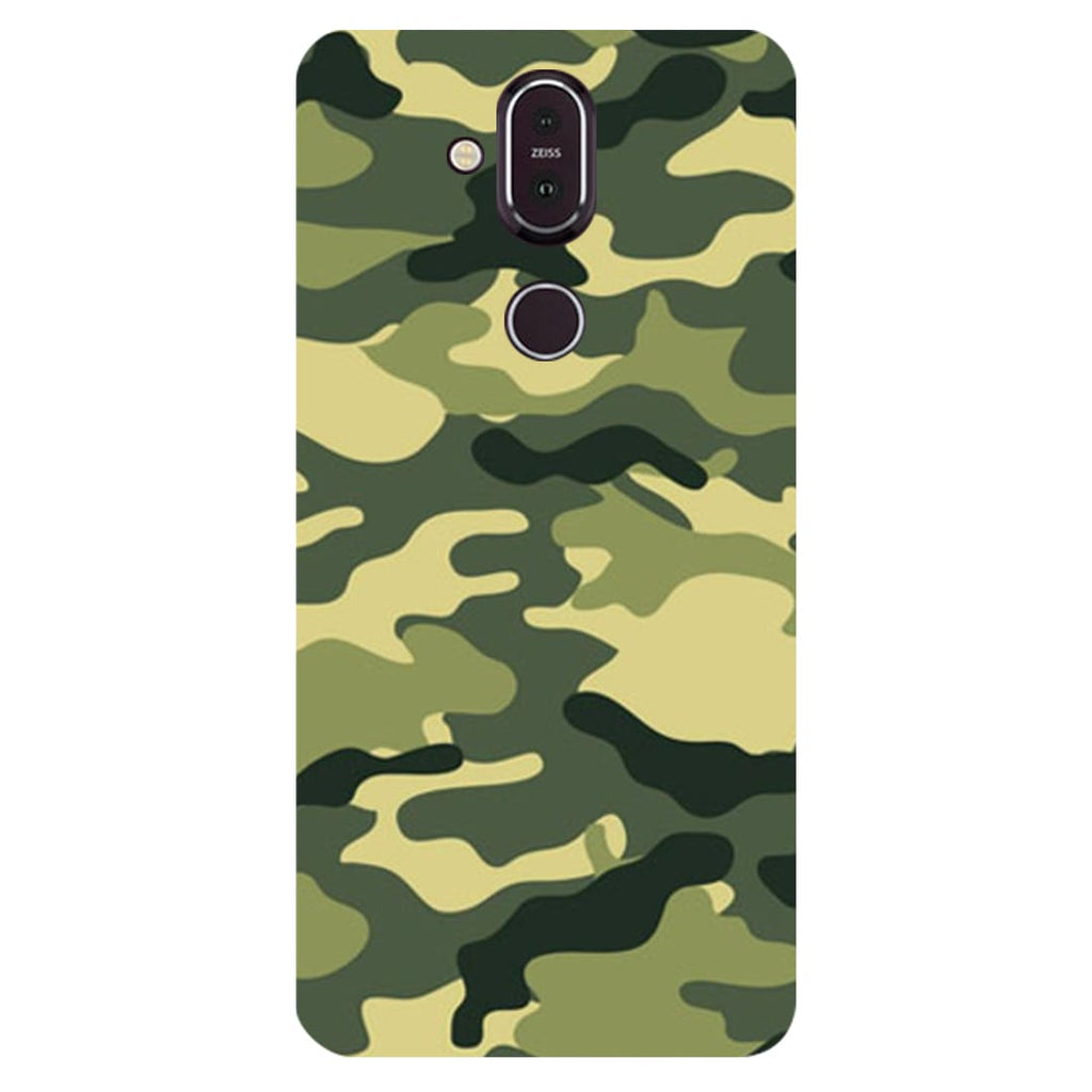 Green Camouflage Nokia 8.1 Back Cover-Hamee India