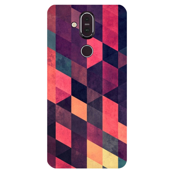 Pink Shades Nokia 8.1 Back Cover-Hamee India