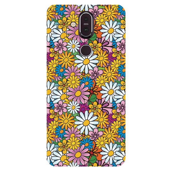 Colourful Flowers Nokia 8.1 Back Cover-Hamee India