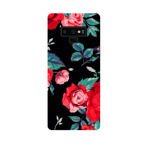 Black Bloom Samsung Galaxy Note 9 Back Cover-Hamee India