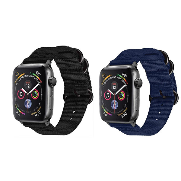 Nylon Woven Band Strap (Set of 2) - Apple Watch Series 5/4/3 (44mm/42mm)