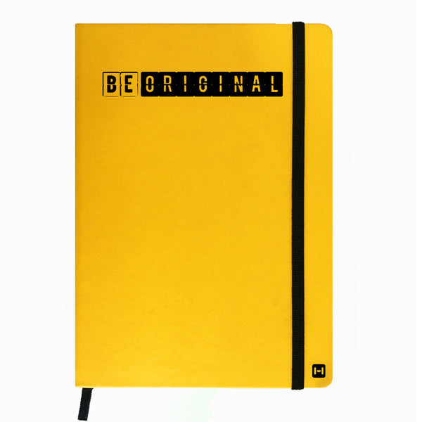 Hamee India - Be Original - Yellow Leather Notebook