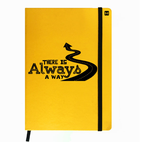 Hamee India - Always A Way - Yellow Leather Notebook