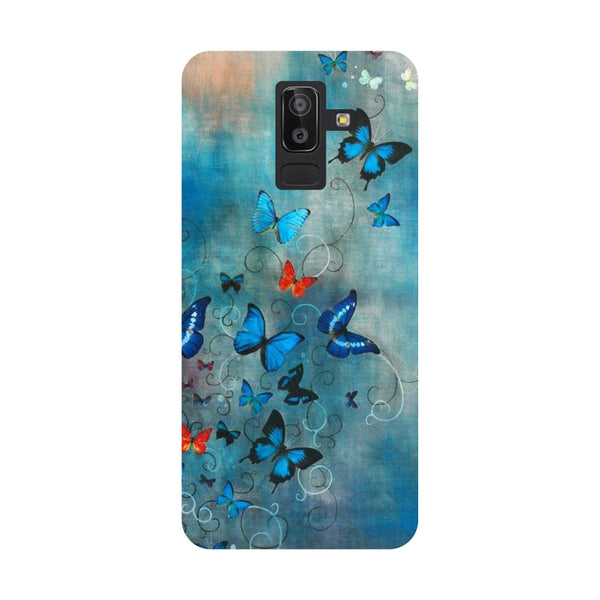 Blue Butterfly Samsung Galaxy On8 (2018) Back Cover-Hamee India