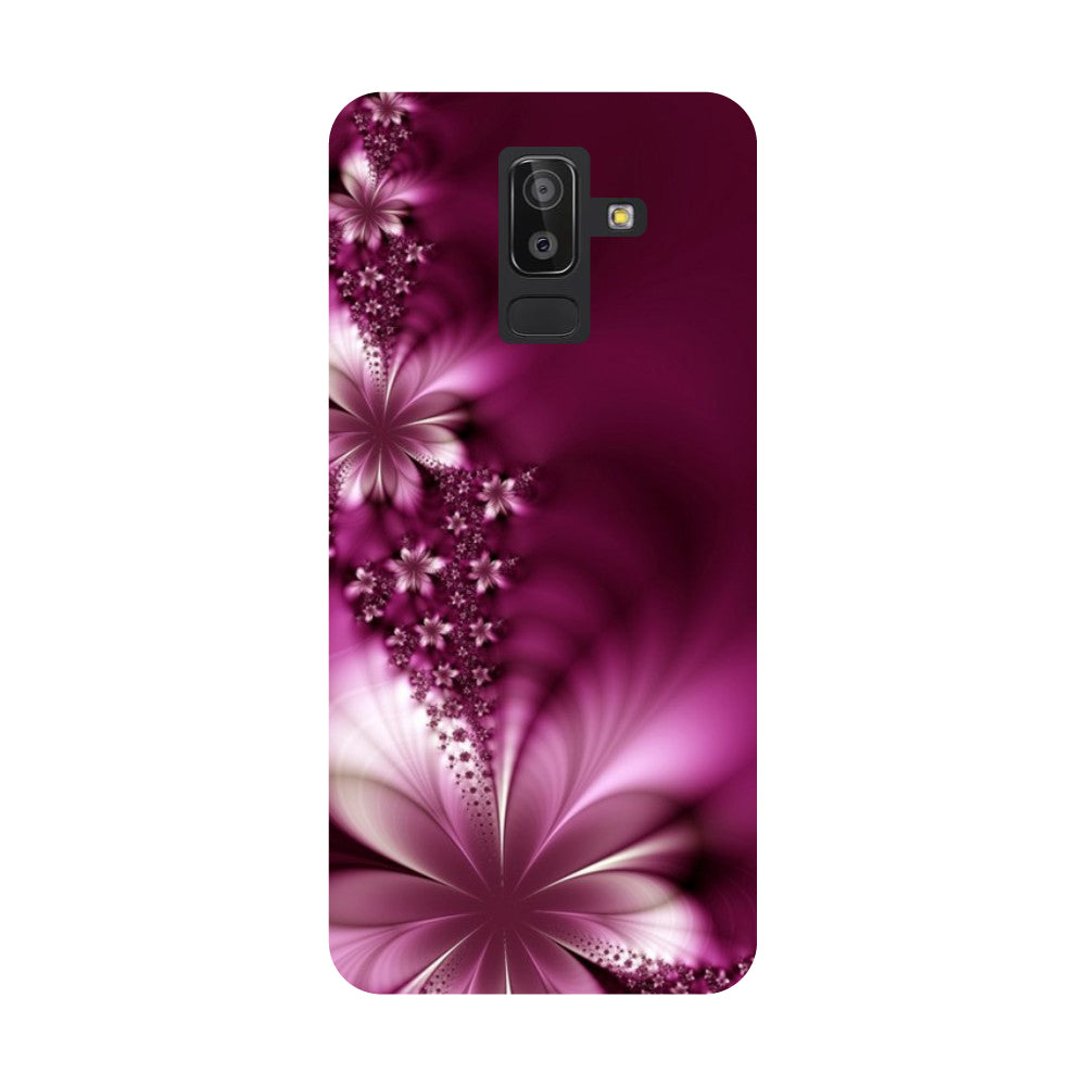 online store afafd ffef1 Purple Flowers Samsung Galaxy On8 (2018) Back Cover