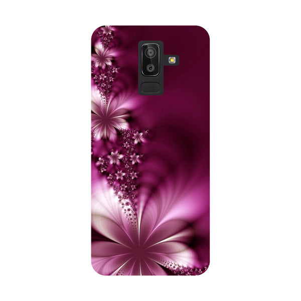 Purple Flowers Samsung Galaxy On8 (2018) Back Cover-Hamee India