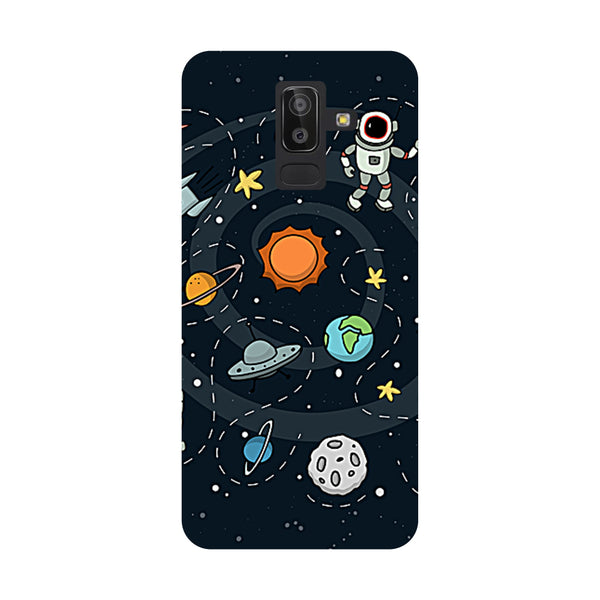 Space Samsung Galaxy On8 (2018) Back Cover-Hamee India