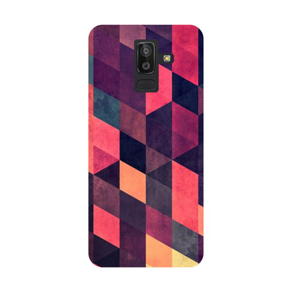 Pink Abstract Samsung Galaxy On8 (2018) Back Cover-Hamee India