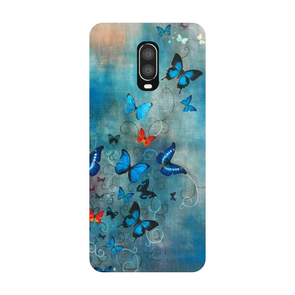 Blue Butterfly OnePlus 6T Back Cover-Hamee India