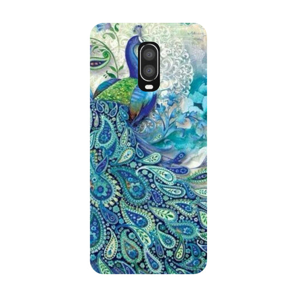 Blue Peacock OnePlus 6T Back Cover-Hamee India