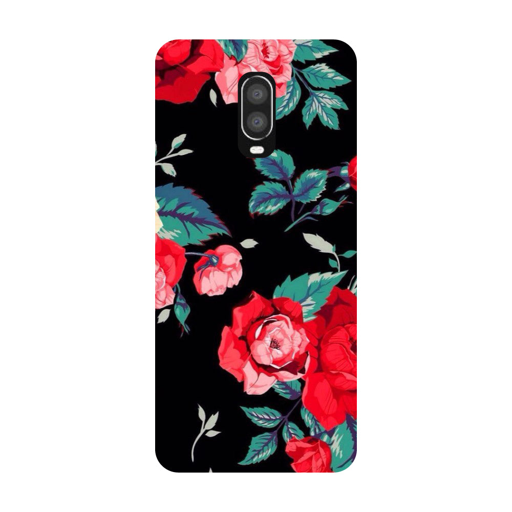 Black Bloom OnePlus 6T Back Cover-Hamee India