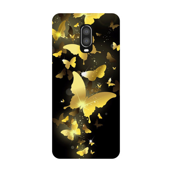 Golden Butterflies OnePlus 6T Back Cover-Hamee India