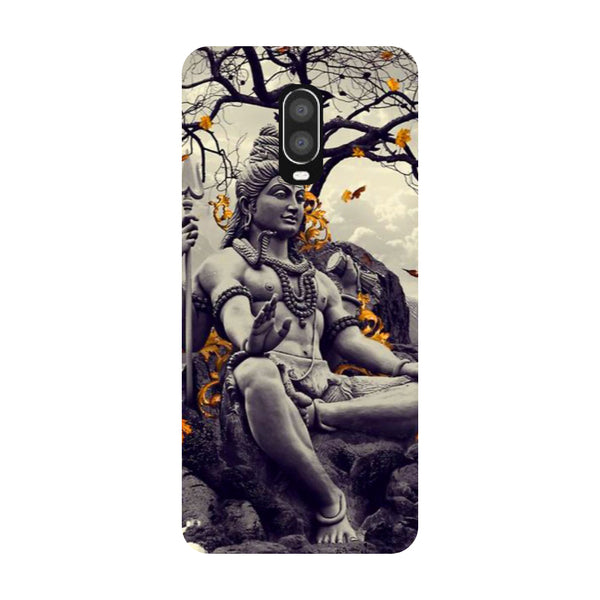 Gray Shiva OnePlus 6T Back Cover-Hamee India