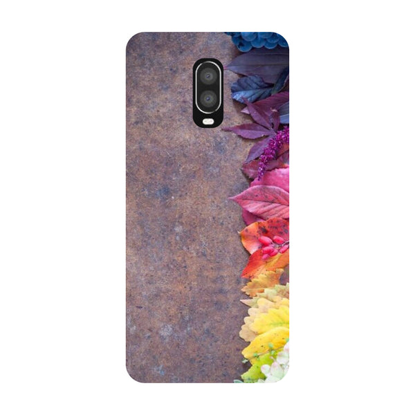 Brown Flowers OnePlus 6T Back Cover-Hamee India
