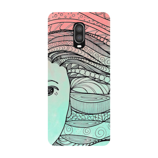 Ethnic Hair OnePlus 6T Back Cover-Hamee India