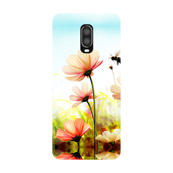 Flowers Field OnePlus 6T Back Cover-Hamee India