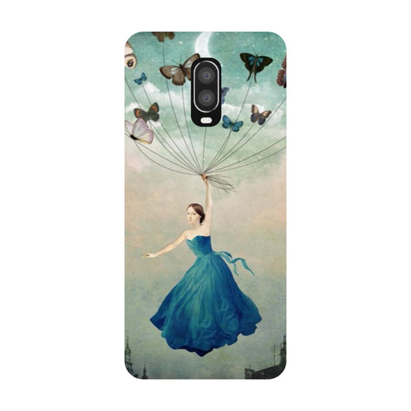 Flying Girl OnePlus 6T Back Cover-Hamee India
