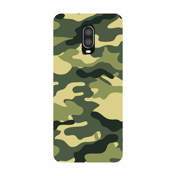 Camouflage OnePlus 6T Back Cover-Hamee India