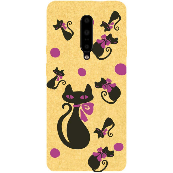 Yellow Cats OnePlus 7 Pro Back Cover-Hamee India