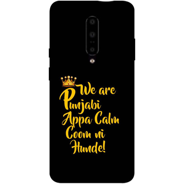 Punjabi OnePlus 7 Pro Back Cover-Hamee India