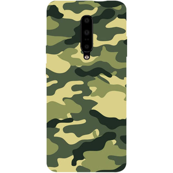 Green Camouflage OnePlus 7 Pro Back Cover-Hamee India