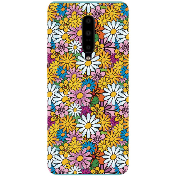 Colourful Flowers OnePlus 7 Pro Back Cover-Hamee India