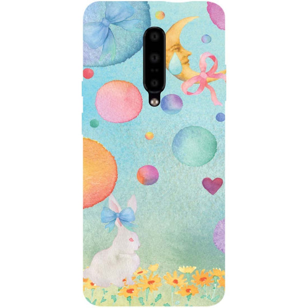 Moon Rabbit OnePlus 7 Pro Back Cover-Hamee India