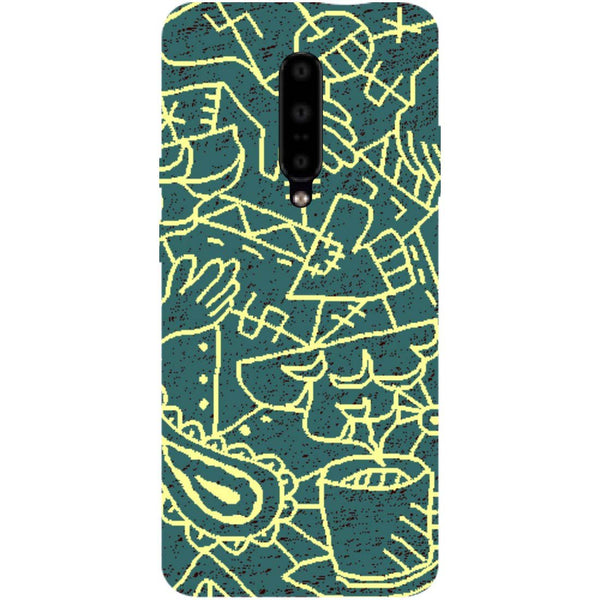 Abstract OnePlus 7 Pro Back Cover-Hamee India