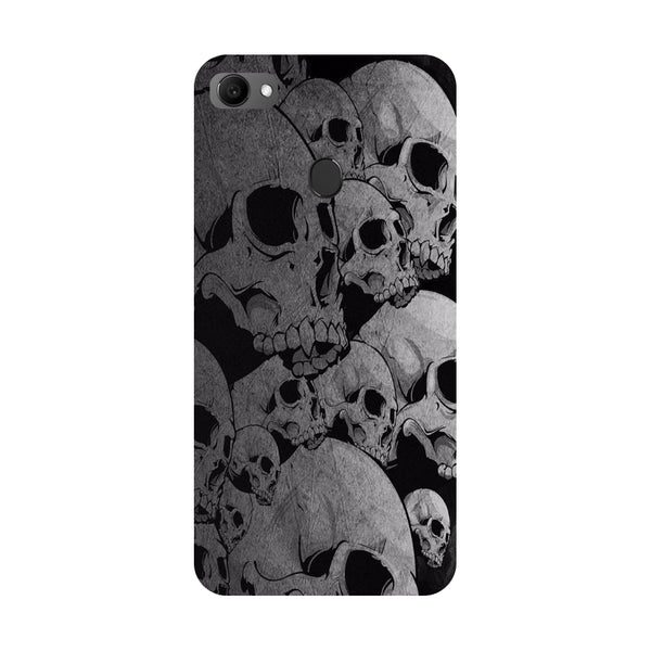 Skulls- Printed Hard Back Case Cover for Oppo F7