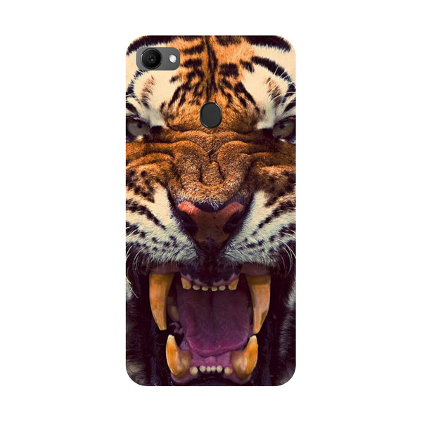 Tiger- Printed Hard Back Case Cover for Oppo F7