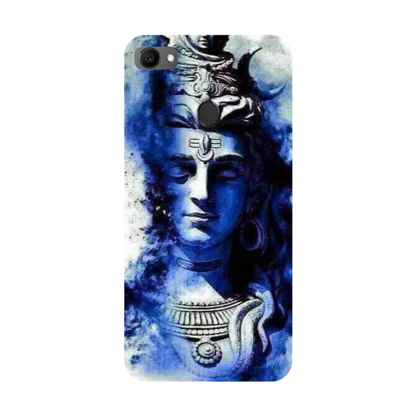 Blue shiva- Printed Hard Back Case Cover for Oppo F7