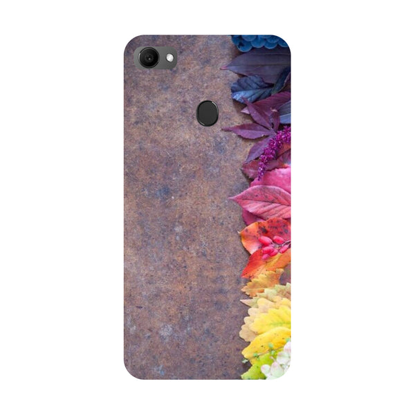 Side flowers- Printed Hard Back Case Cover for Oppo F7