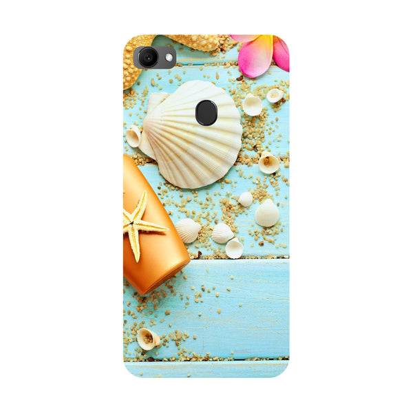 Shells- Printed Hard Back Case Cover for Oppo F7