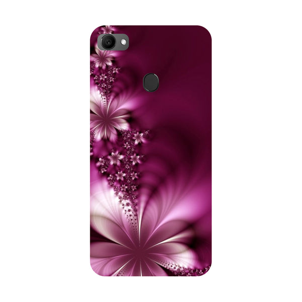 Purple flowers- Printed Hard Back Case Cover for Oppo F7