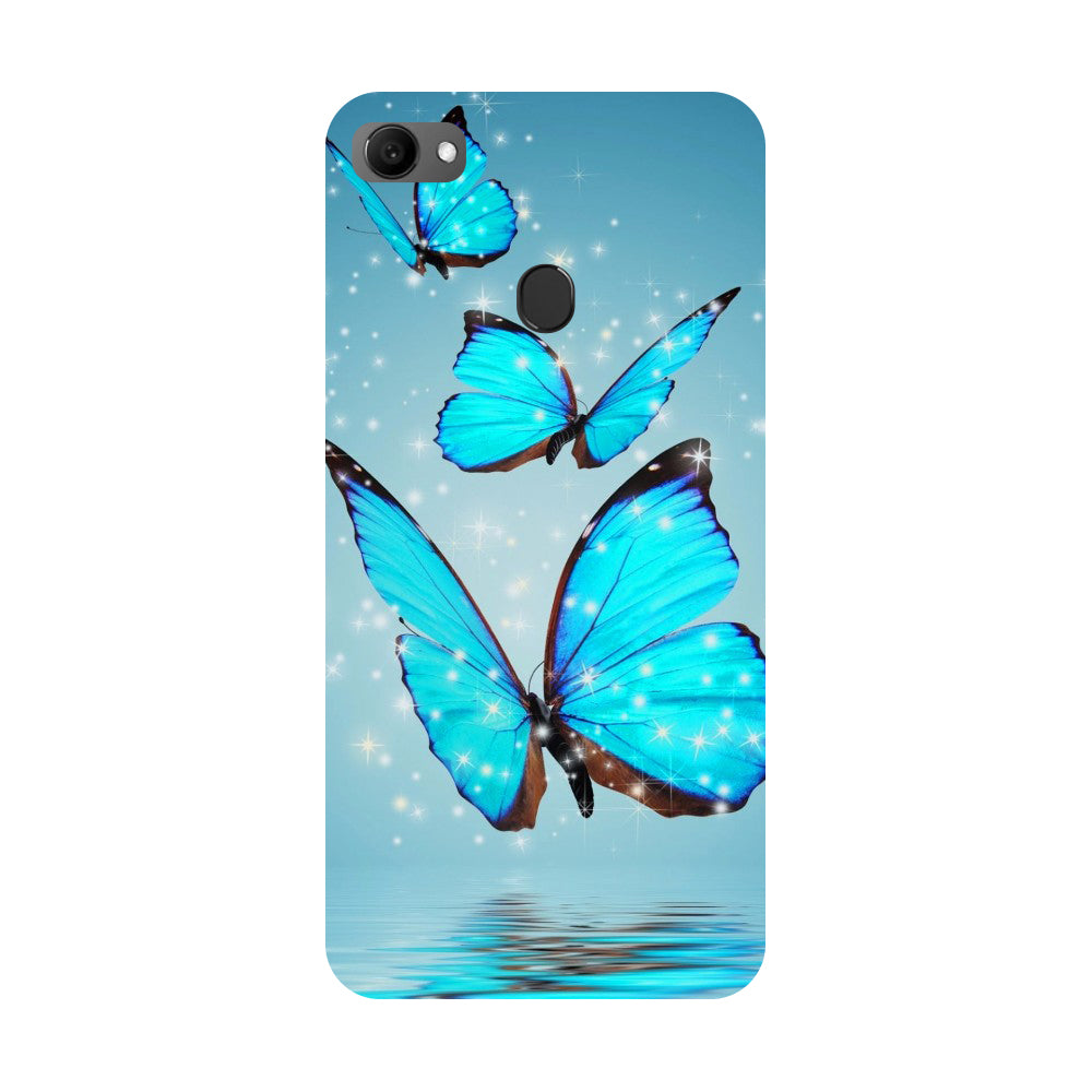 Blue Butterflies Oppo F7 Back Cover-Hamee India