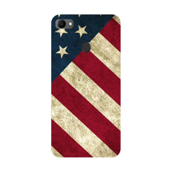 USA flag- Printed Hard Back Case Cover for Oppo F7