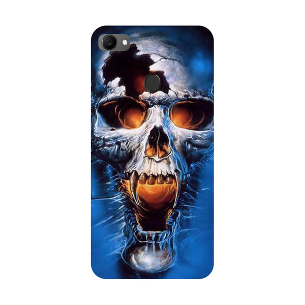 Skull blue- Printed Hard Back Case Cover for Oppo F7