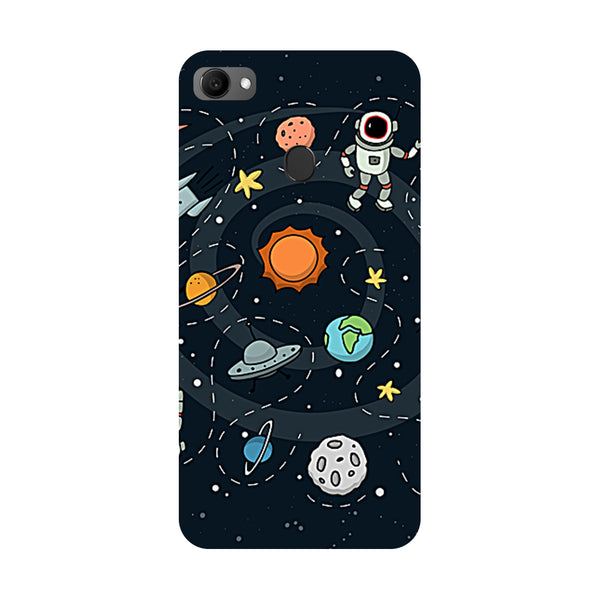 Planets- Printed Hard Back Case Cover for Oppo F7