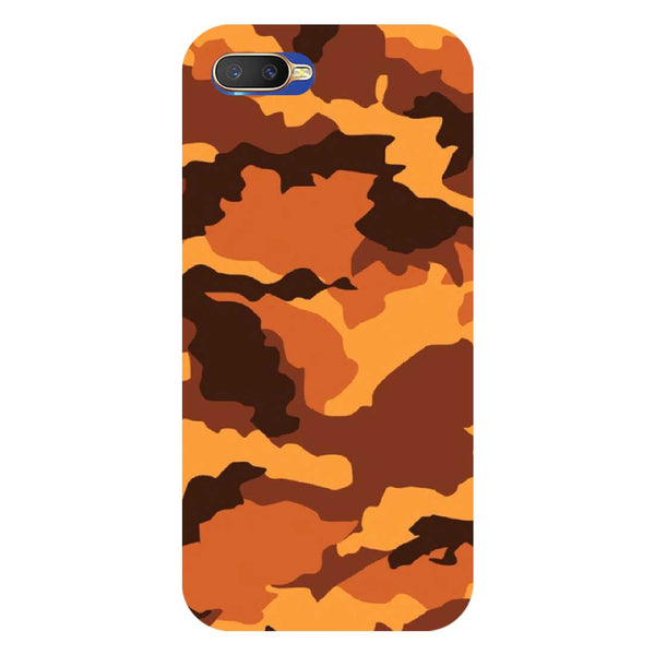 Orange Camouflage Oppo K1 Back Cover-Hamee India
