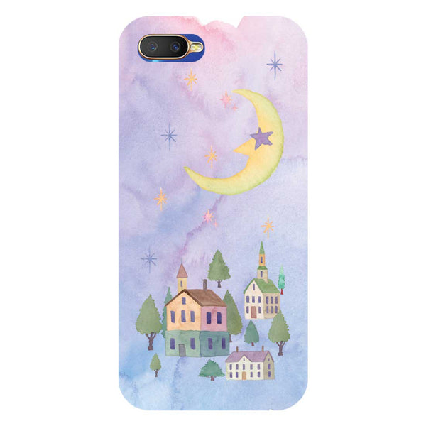 Starry Night Oppo K1 Back Cover-Hamee India