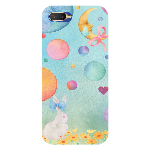 Moon Rabbit Oppo K1 Back Cover-Hamee India