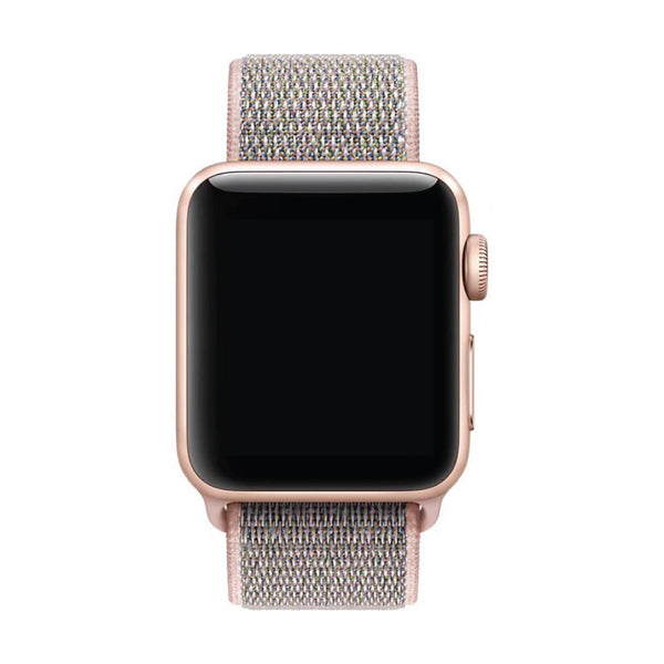Baby Pink Nylon Velcro Band Strap - Apple Watch Series 5/4/3 (44mm/42mm)