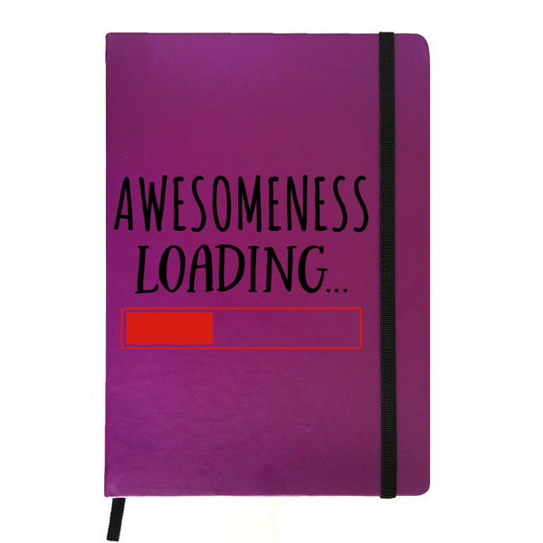 Hamee India - Awesomeness Loading - Purple Leather Notebook