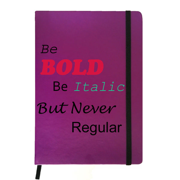 Hamee India - Be Bold - Purple Leather Notebook