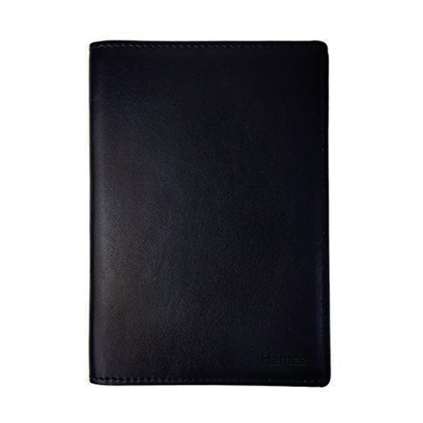 Plain Black PU Leather Passport Wallet / Holder-Hamee India
